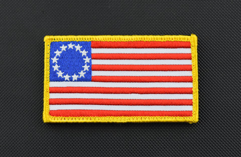 Thin Red Line United States Flag Patch - Velcro