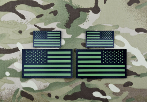 Infrared US/UK Friendship Flag Patch