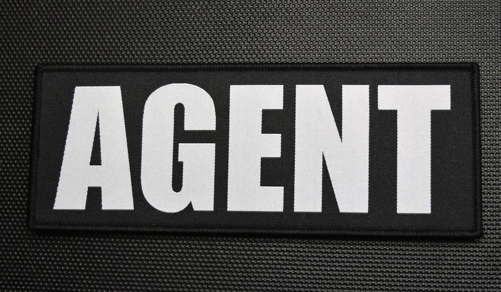 "8"" X 3"" Woven Uniform AGENT Placard Patch"