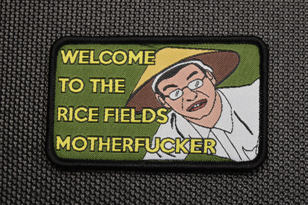 Welcome To The Rice Fields Motherfucker Morale Patch
