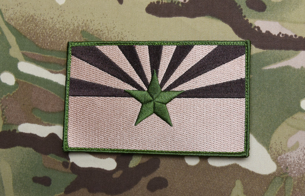 "Subdued Large 3""x5"" Arizona State Flag Morale Patch"