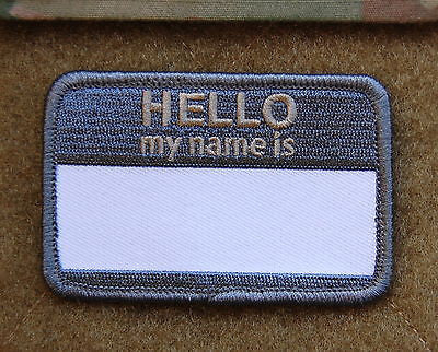 HELLO MY NAMES IS...  Morale Patch - ACU