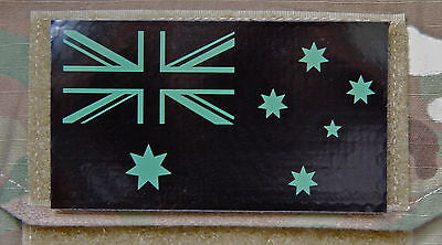 Infrared Mini Australian Flag Patch - Tan & Black