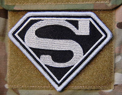 Superman Morale Patch - Black & White