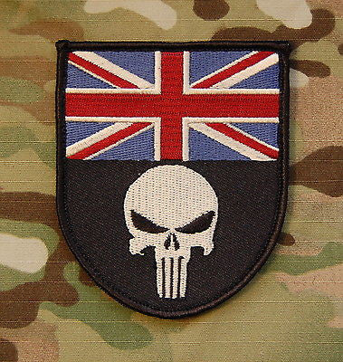 Punisher UK Flag Shield Morale Patch