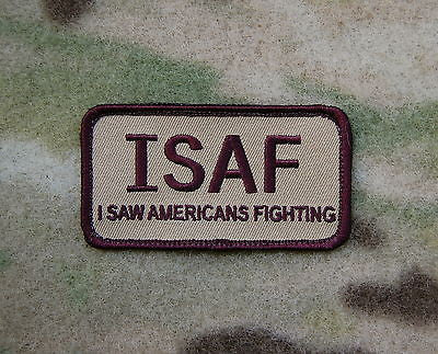 ISAF I Saw Americans Fighting Morale Patch - Brown
