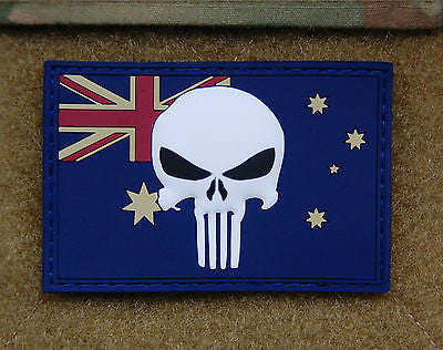 Australian Punisher Flag Morale 3D PVC Patch