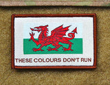 Cymru Wales THESE COLOURS DON'T RUN Morale Patch