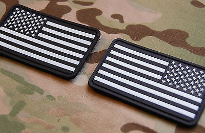 US Flag PVC Morale Patch Set - Urban GITD