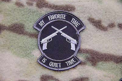 MY FAVORITE TIME IS QUIET TIME Morale PATCH