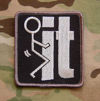 Fuck F It Morale Patch - Black & White