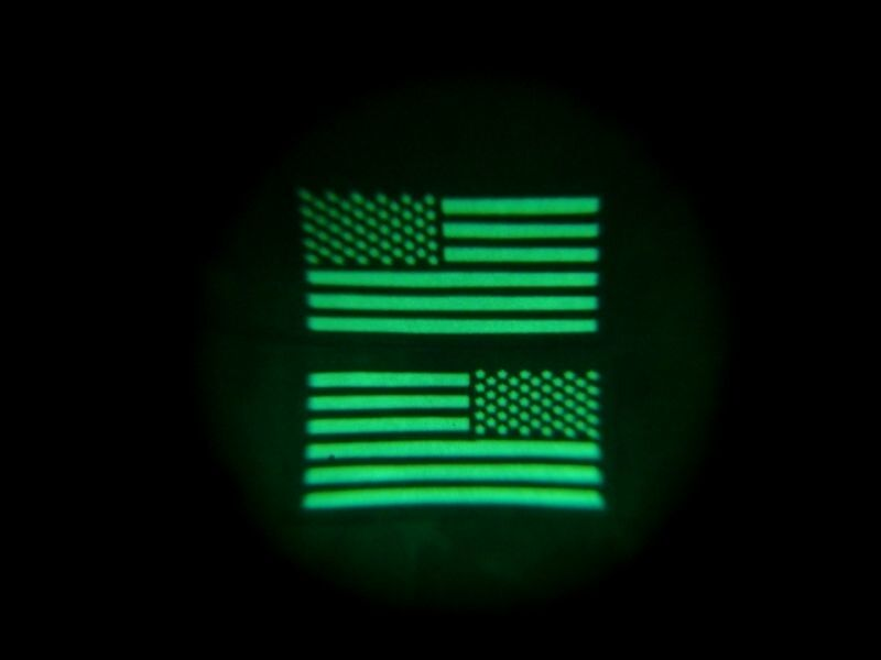 Infrared Multicam Black IR US Flag Patch Set US Army SF Green Beret CAG
