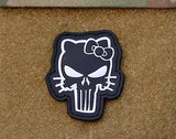 Hello Kitty Punisher 3D PVC Morale Patch