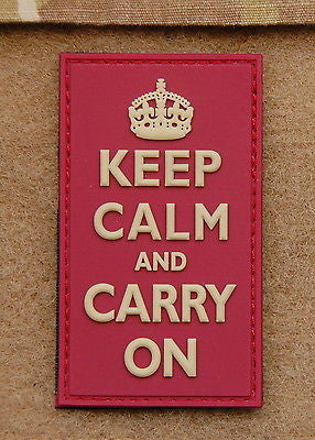 KEEP CALM AND CARRY ON 3D PVC Morale Patch