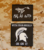 MAL AD OSTEO/WITH YOUR SHIELD OR ON IT Morale Patch Set