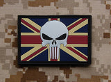 UK Punisher Flag 3D PVC Morale Patch