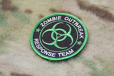 Toxic Green ZOMBIE OUTBREAK RESPONSE TEAM Tactical Biohazard Velcro Patch Undead