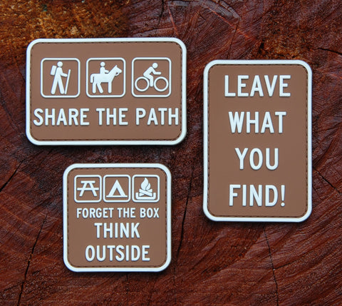 Leave What You Find Campground Sign 3D PVC Morale Patch