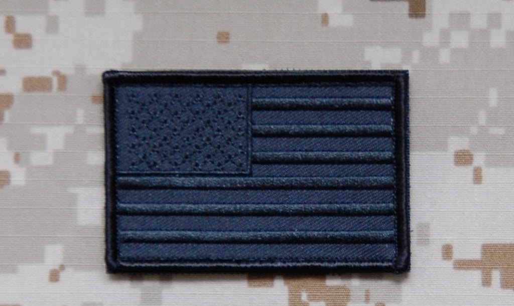 Blackout United States Flag Patch-Forward Facing