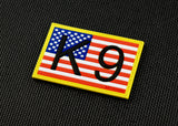 K9 US Flag 3D PVC Morale Patch - Full Color