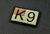 K9 US Flag 3D PVC Morale Patch - Multicam