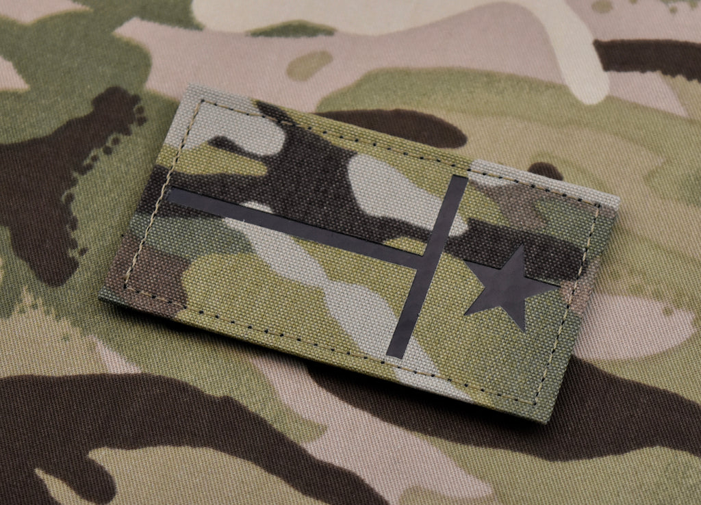 Reverse Infrared Texas State Flag Multicam Call Sign Patch