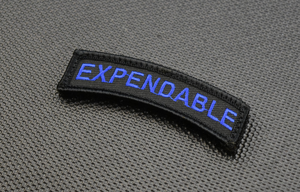 Thin Blue Line EXPENDABLE Morale Rocker Patch