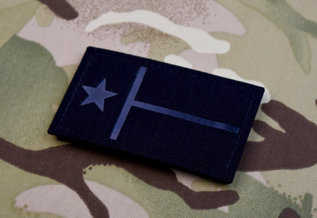 Texas State Flag Blackout Infrared Call Sign Patch