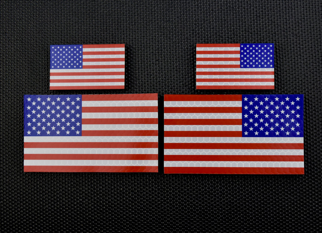 SOLAS Reflective US Flag Standard & Mini Full Patch Set