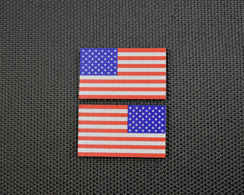 Infrared US Flag Patch - Orange & Black / Search & Rescue