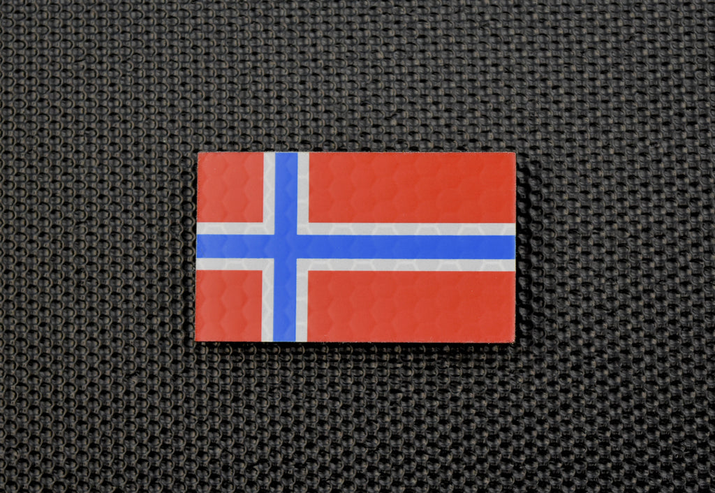 Mini Infrared SOLAS Reflective Norway Flag Patch