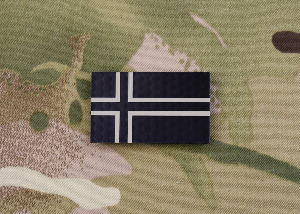 Infrared Norway Flag Patch Set; Standard & Mini