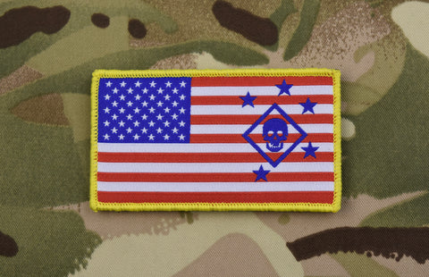 Thin Blue Line Punisher US Flag GITD Morale Patch
