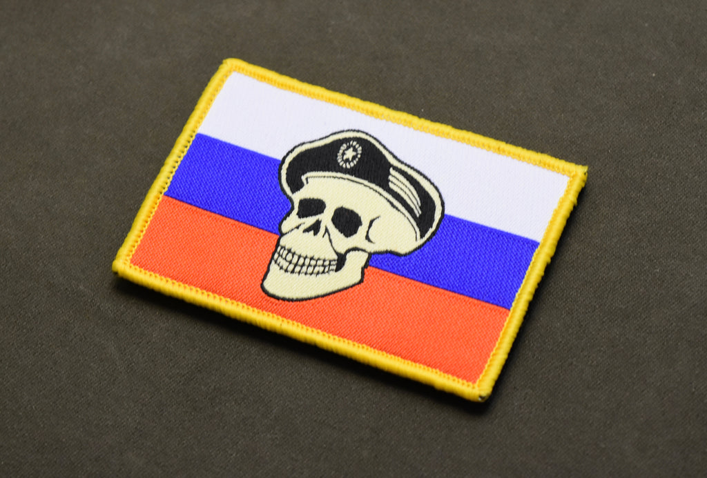 Spetsnaz Skull Russian Flag Morale Patch