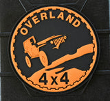 4x4 Overland Jeep 3D PVC Morale Patch