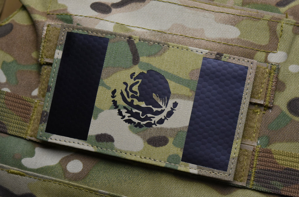 "Large Infrared Multicam IR Mexico Flag Patch 5"" x 3"""