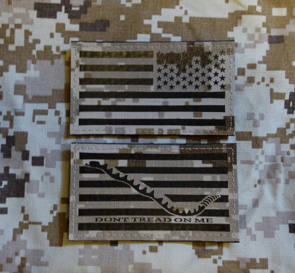 IR NWU Type II Reverse US Flag & First Navy Jack Patch Set: KITAGAWA