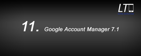 11. Google Account Manager 7.1