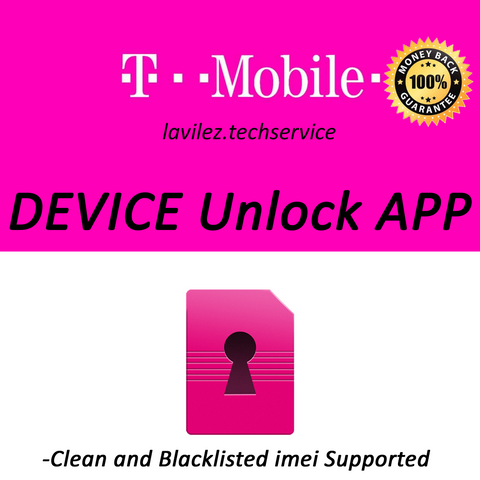 T-Mobile Device Unlock App (Samsung, LG, HTC, ZTE, Alcatel, Kyocera, Coolpad, Sony)