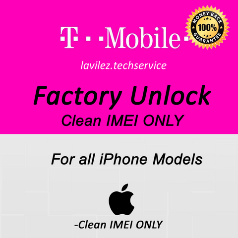 T-Mobile iPhone Clean IMEI UNLOCK for All iPhones
