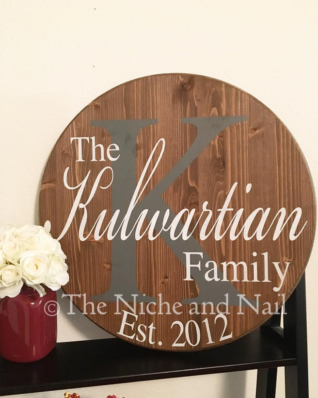 Personalized Family Signs