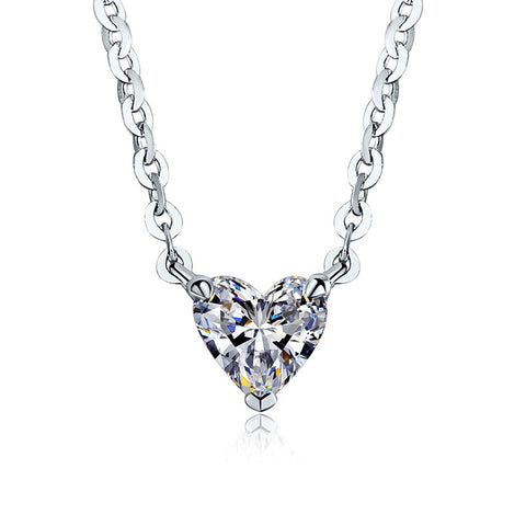 designers necklaces platinum hearts pendant valentine necklace pave heart for jewelry diamond her