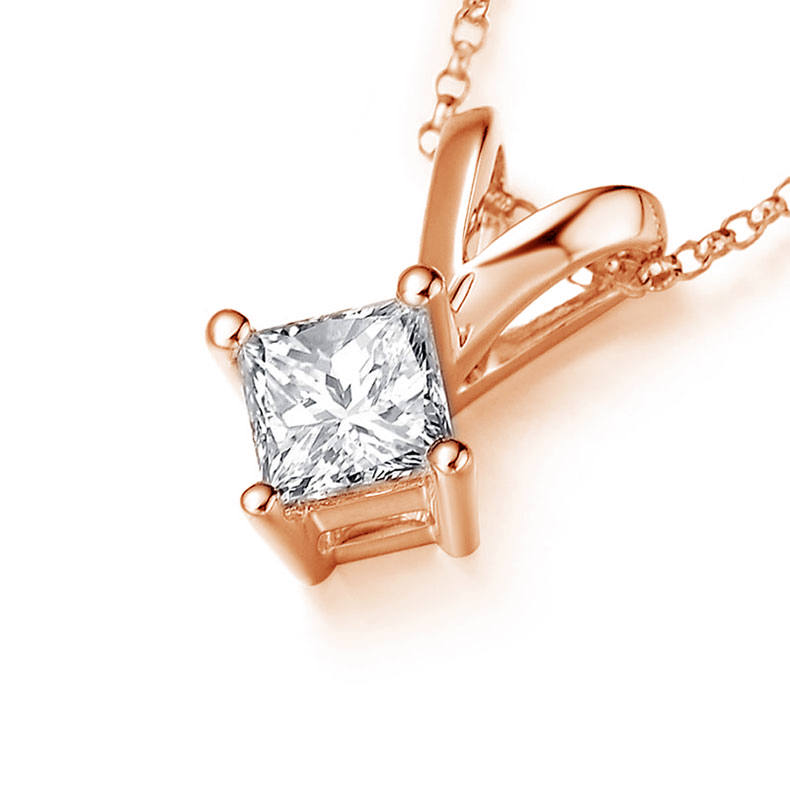 in princess pendant gi htm on solitaire pendants gold g view cut prong yellow diamond neck
