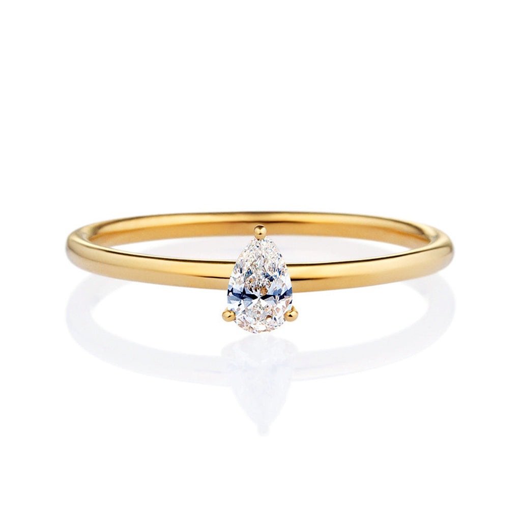 in shape diamond ring watch pear youtube ct engagement yellow gold