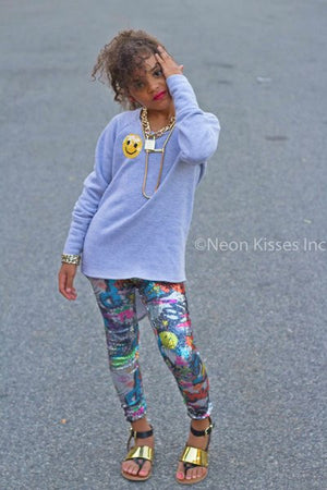 Sequin Cartoon Leggings