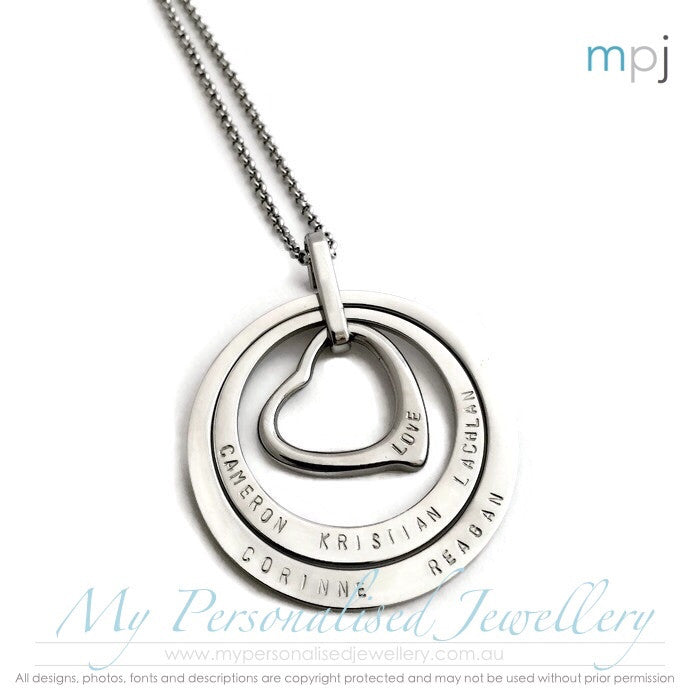 Circle of Love - My Personalised Jewellery - Handstamped MPJ