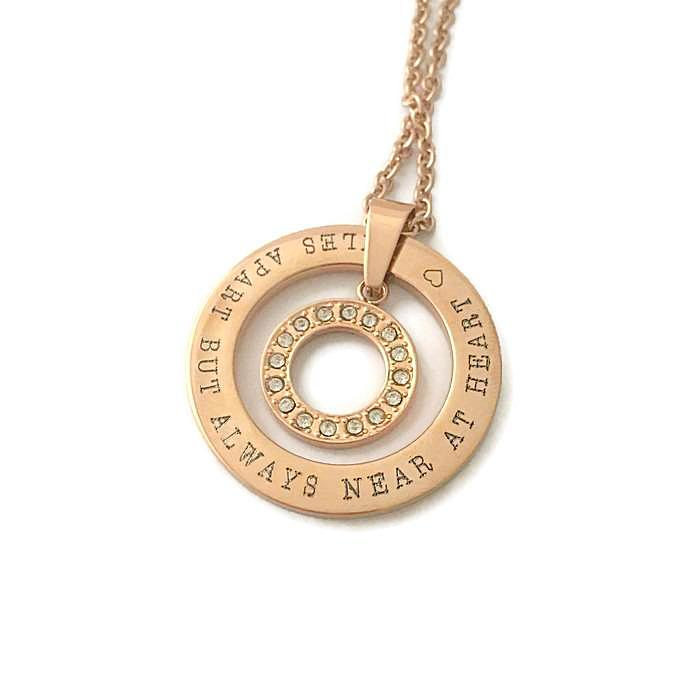 miles apart but always near at heart necklace - My Personalised Jewellery