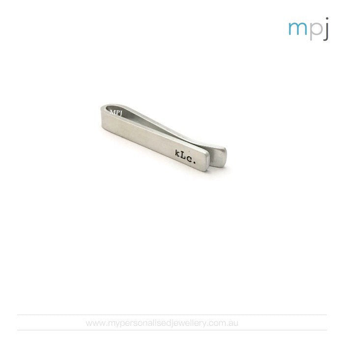 Personalised Tie Clip - My Personalised Jewellery - Handstamped MPJ - 1