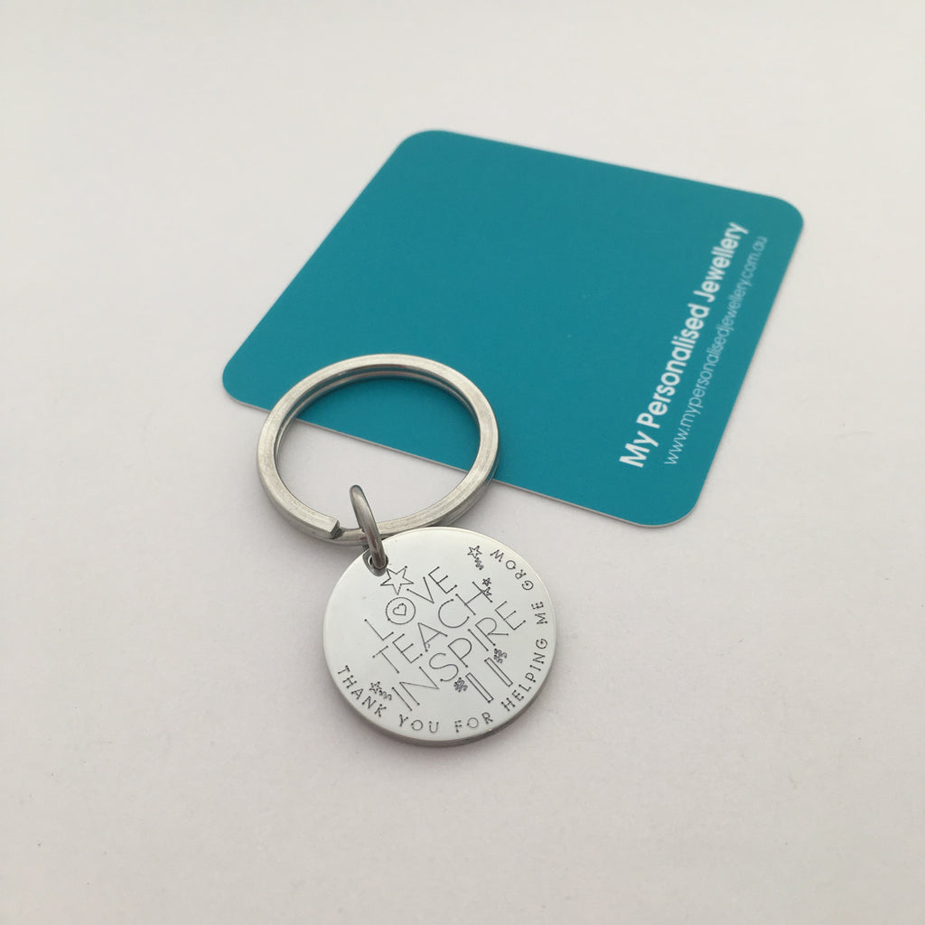 Teachers Day or Carer Keychain - My Personalised Jewellery