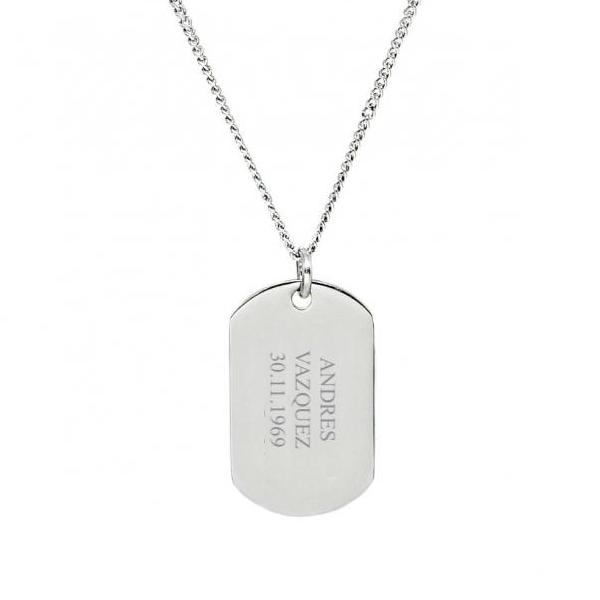 Military ID Dog Tag - Silver - My Personalised Jewellery